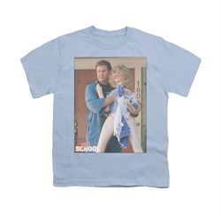 Image of Old School Shirt Kids Frank And Doll Light Blue Youth Tee T-Shirt