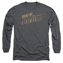 Image of Oldsmobile Long Sleeve Shirt Rocket 88 Charcoal Tee T-Shirt