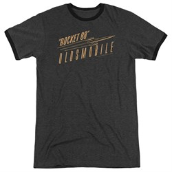 Image of Oldsmobile Rocket 88 Charcoal Ringer Shirt