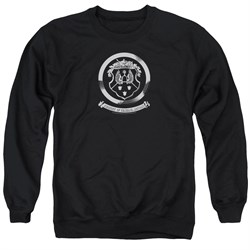 Image of Oldsmobile Sweatshirt 1930's Crest Emblem Adult Black Sweat Shirt