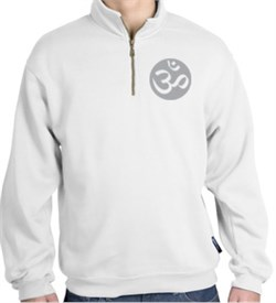 Image of Mens Yoga Sweatshirt ? Om Symbol 1/4 Zip Sweat Shirt