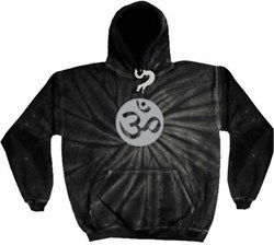 Mens Yoga Hoodie Sweatshirt ? Om Symbol Tie Dye Hooded Sweat Shirt