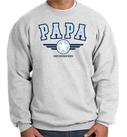 Image of Papa Fleece Sweatshirt - Grandpa - Pop Pop - Dad - Adult Sweatshirt