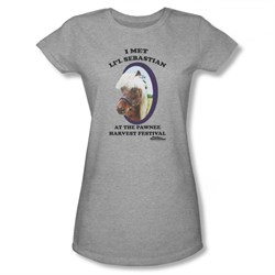 Image of Parks And Recreation Shirt Juniors Lil Sebastian Athletic Heather T-Shirt