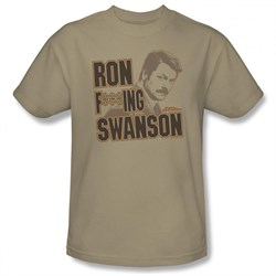 Image of Parks And Recreation Shirt Ron Sand T-Shirt