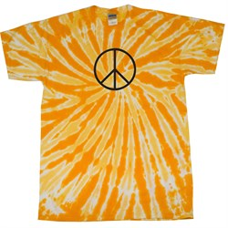 Peace Tie Dye Shirt Black Basic Peace Gold Twist Tie Dye Tee