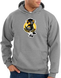 Penguin Power Hoodie Athletic Gym Workout Hoody Athletic Heather