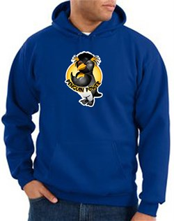 Penguin Power Hoodie Athletic Gym Workout Hoody Royal