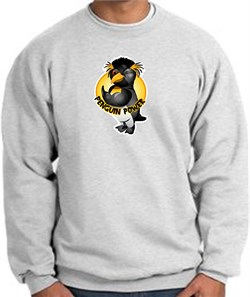 PENGUIN POWER Athletic Gym Workout Adult Sweatshirt - Ash