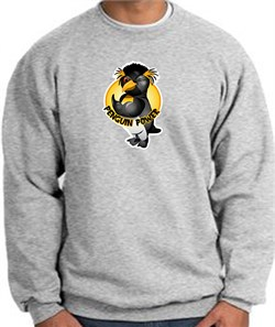 PENGUIN POWER Athletic Gym Workout Adult Sweatshirt - Athletic Heather