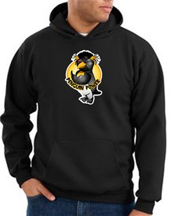 Penguin Power Hoodie Athletic Gym Workout Hoody Black