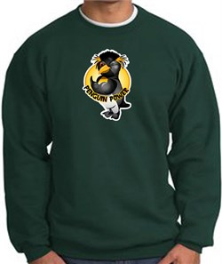 PENGUIN POWER Athletic Gym Workout Adult Sweatshirt - Dark Green