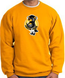 PENGUIN POWER Athletic Gym Workout Adult Sweatshirt - Gold
