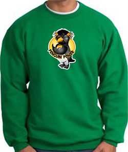 PENGUIN POWER Athletic Gym Workout Adult Sweatshirt - Kelly Green