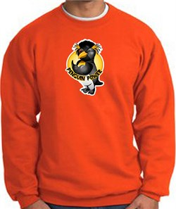 PENGUIN POWER Athletic Gym Workout Adult Sweatshirt - Orange