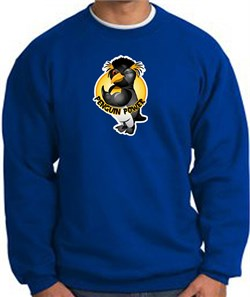 PENGUIN POWER Athletic Gym Workout Adult Sweatshirt - Royal