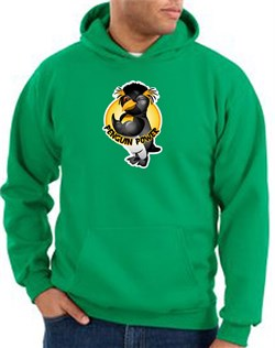 Penguin Power Hoodie Athletic Gym Workout Hoody Kelly Green