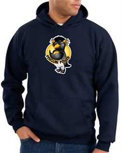Image of Penguin Power Hoodie Athletic Gym Workout Hoody Navy