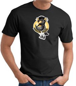 Mens Workout Tee - Penguin Power Athletic T-shirt - Black