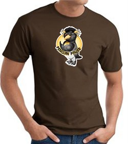 PENGUIN POWER Athletic Gym Workout T-shirt - Brown