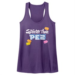 Image of PEZ Candy Juniors Tank Top Sweeter Than Purple Racerback