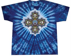 Image of PHIL'S MANDALA Adult Tie Dye Rock T-shirt