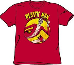 Plastic Man T-shirt - DC Comics Superhero Adult Red Tee