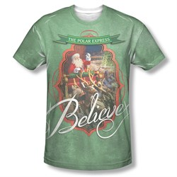 Image of Polar Express Santa Claus Shirt for Adults