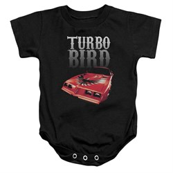 Pontiac Baby Romper Turbo Bird Black Infant Babies Creeper