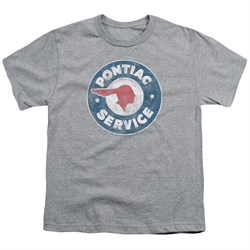 Pontiac Kids Shirt Vintage Service Sports Grey T-Shirt