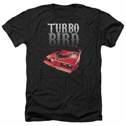 Pontiac Shirt Turbo Bird Heather Black T-Shirt