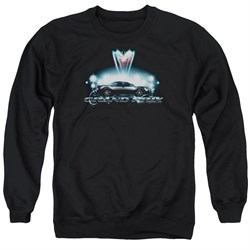 Image of Pontiac Sweatshirt Grand Prix Adult Black Sweat Shirt