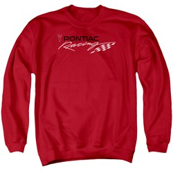 Image of Pontiac Sweatshirt Racing Adult Red Sweat Shirt