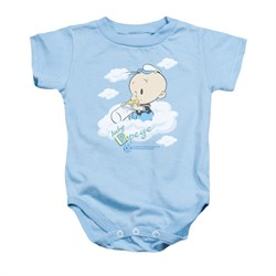 Image of Popeye Baby Romper Baby Clouds Light Blue Infant Babies Creeper