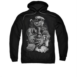Popeye Hoodie Sweatshirt Mine All Mine Black Adult Hoody Sweat Shirt