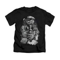 Popeye Shirt Mine All Mine Kids Black Youth Tee T-Shirt