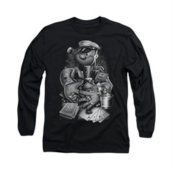 Popeye Shirt Mine All Mine Long Sleeve Black Tee T-Shirt
