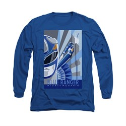 Power Rangers Shirt Blue Ranger Long Sleeve Blue Tee T-Shirt