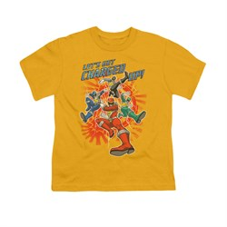 Image of Power Rangers Shirt Kids Charged Up Gold T-Shirt