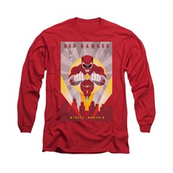 Power Rangers Shirt Red Ranger Long Sleeve Red Tee T-Shirt