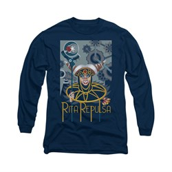 Power Rangers Shirt Rita Ranger Long Sleeve Navy Tee T-Shirt