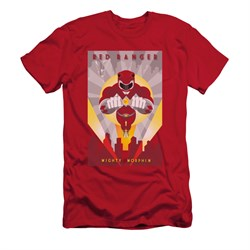 Power Rangers Shirt Slim Fit Red Ranger Red T-Shirt