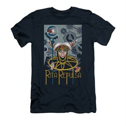 Power Rangers Shirt Slim Fit Rita Ranger Navy T-Shirt