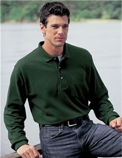 Image of Men's Spartan Long Sleeve Golf Sport Shirt With Pocket