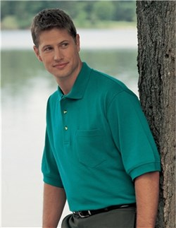 Image of Premium Quality Men's Tall Sizes Image Golf Shirt With Pocket