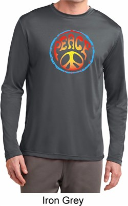 Image of Psychedelic Peace Mens Dry Wicking Long Sleeve Shirt