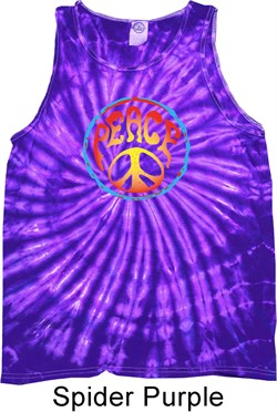 Image of Psychedelic Peace Tie Dye Tank Top