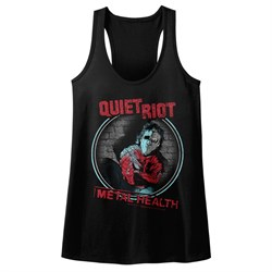 Image of Quiet Riot Juniors Tank Top Metal Health Black Racerback