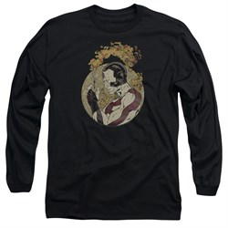 Rai Valiant Comics Long Sleeve Shirt Japanese Print Black Tee T-Shirt