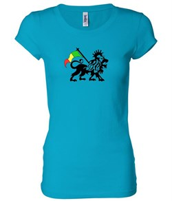 Rasta Lion Ladies Shirt Longer Length Shirt